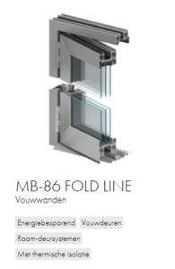 AluProf MB-86 fold line